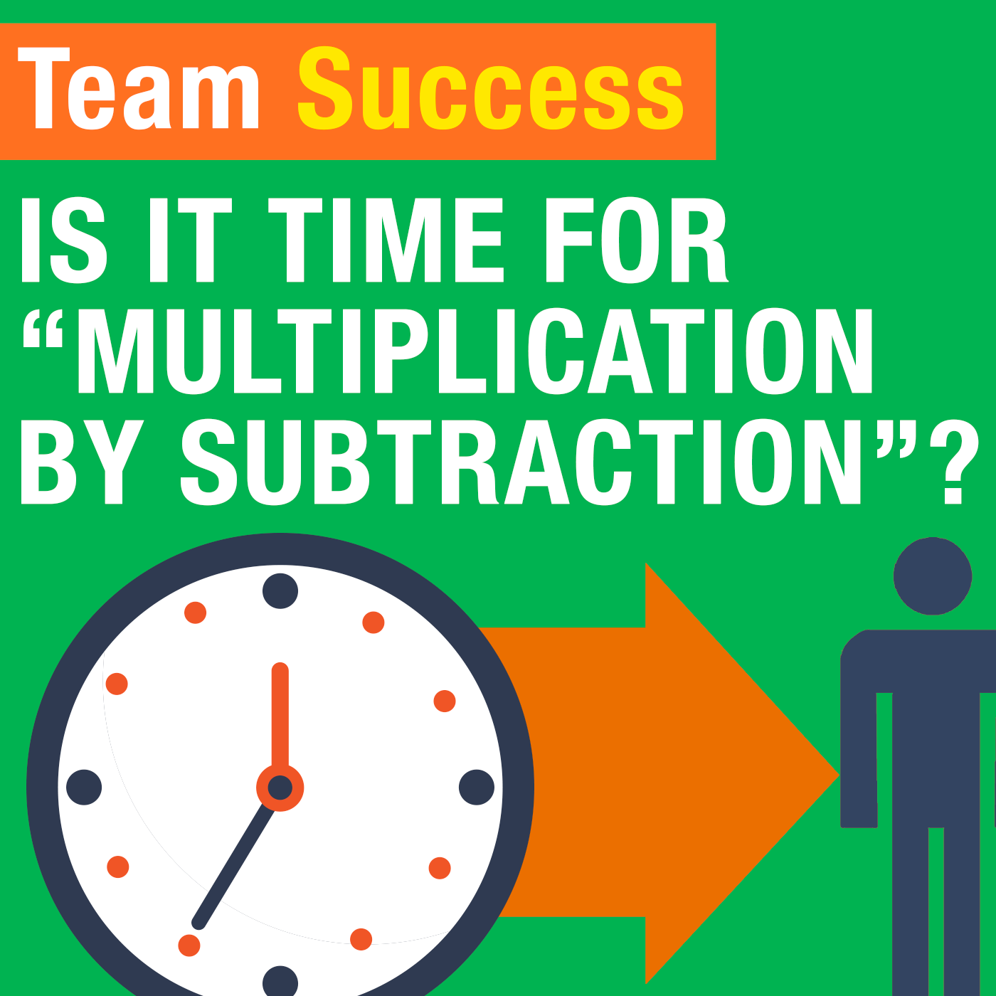 "Is It Time For ""Multiplication By Subtraction""?"