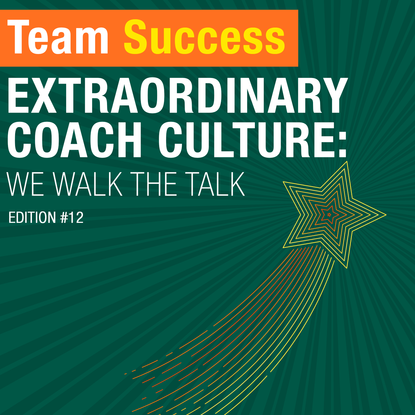 Extraordinary Coach Culture: We Walk The Talk