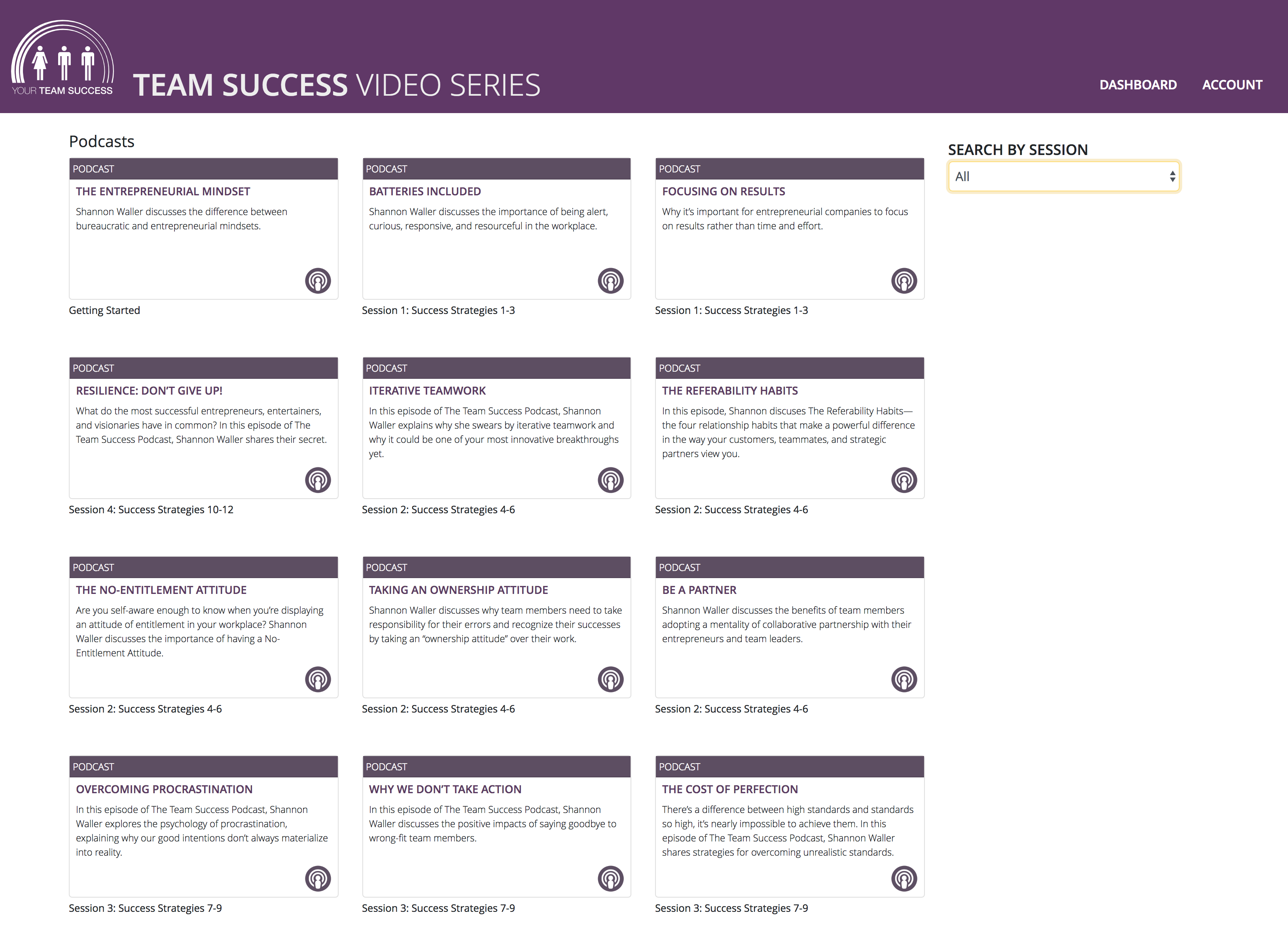 Team Success Video Series Resources